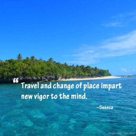 "Travel Quotes: 18. ""Travel and change of place impart new vigor to the mind."" - Seneca"
