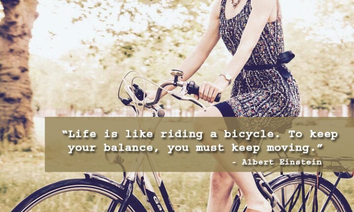 moving on quote bicycle