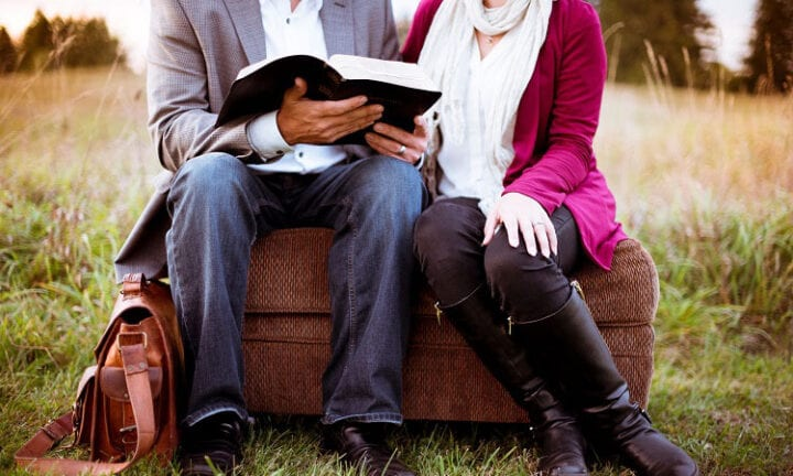 Couple learning True Love in the Bible