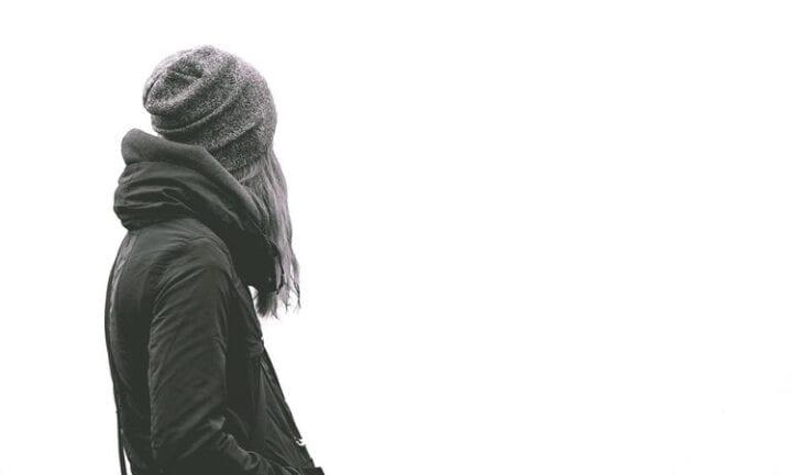 lady alone