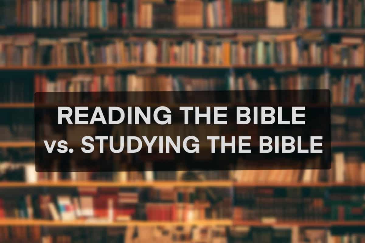 link to Bible Reading vs. Bible Study Bible Reading vs. Bible Study